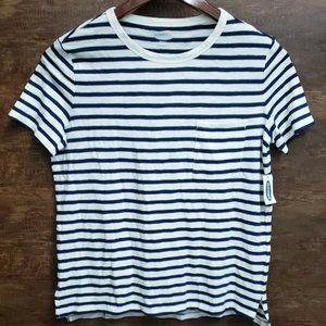 Women's Old Navy XS Boy Friend T-shirt Stripes